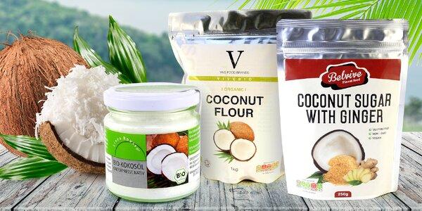 Kokosový cukr, mouka i bio olej pro zdravé vaření