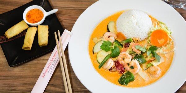 Výběr z asijského menu + jarní a minizávitky