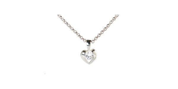 Dámský stříbrný náhrdelník s malým srdíčkem Destellos
