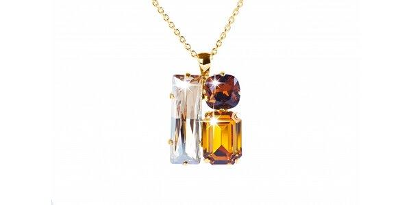 Dámský zlatý náhrdelník se Swarovski krystaly Destellos