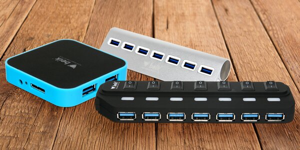 USB rozbočovače až pro sedm zařízení