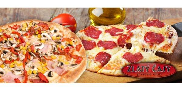 149 Kč za delikátní maxi pizzu (⌀ 55 cm) v pizzeriích Zlatý časy!