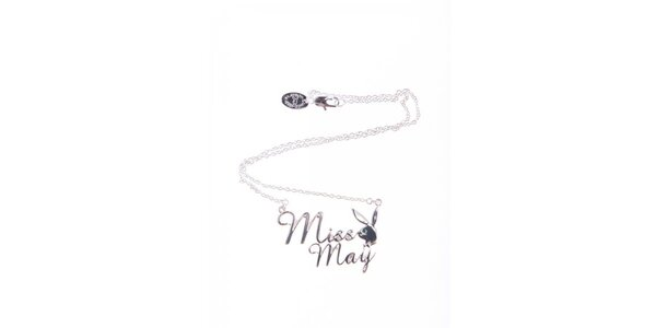Dámský stříbrný řetízek s přívěskem Miss May Playboy