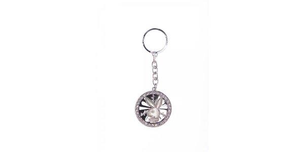 Dámský stříbrný přívesek na klíče ve tvaru králíka Playboy