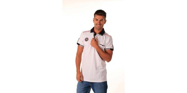 Pánské bílé polo tričko s kapsičkou Celop