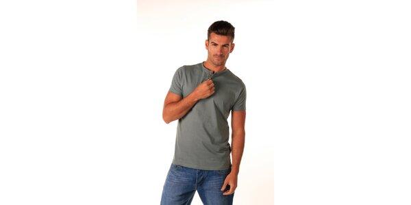 Pánské tmavě šedé bavlněné tričko Celop