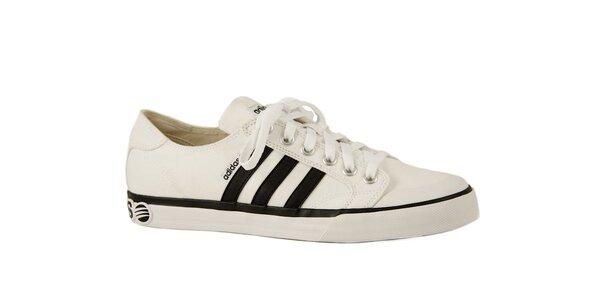 Bílo-černé sportovní tenisky Adidas Clemente Stripe Lo