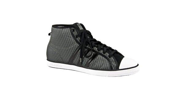 Dámské šedo-stříbrné kotníkové tenisky Adidas Originals
