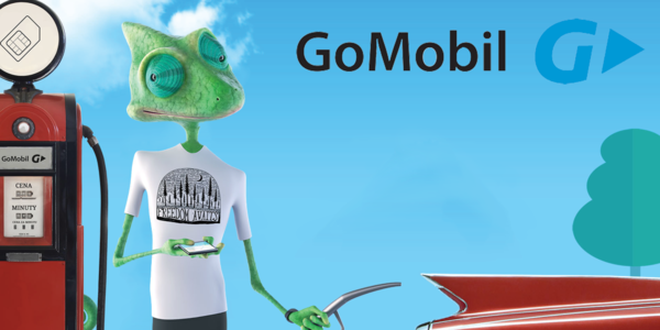 Předplacenka GoMobil s přednabitým kreditem 200 Kč