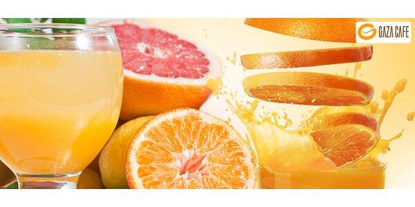 DVA drinky z čerstvého ovoce. Pomeranč a grep