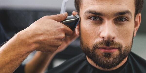 Profesionální pánský střih včetně masáže hlavy