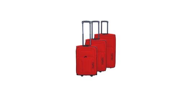 Set tří červených kufrů na kolečkách Esprit