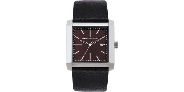 Pánské hnědé analogové hodinky French Connection