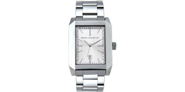 Pánské stříbrné analogové hodinky French Connection