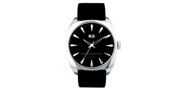 Pánské černé analogové hodinky French Connection