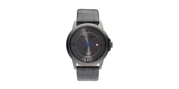 Pánské antracitové analogové hodinky French Connection