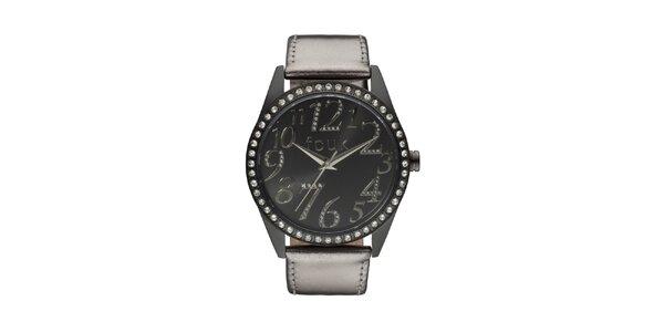 Dámské černo-bronzové analogové hodinky French Connection