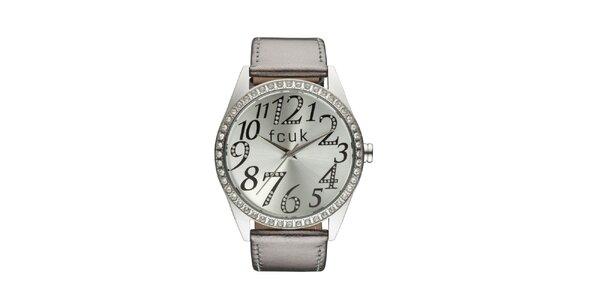 Dámské stříbrno-bronzové analogové hodinky French Connection