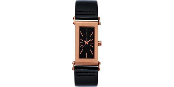 Dámské černo-růžové analogové hodinky French Connection