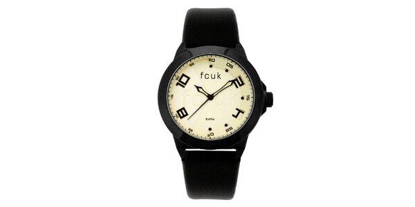 Dámské černo-žluté analogové hodinky French Connection