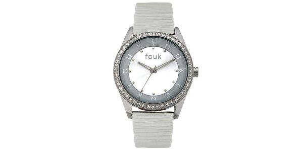 Dámské šedo-stříbrné analogové hodinky French Connection