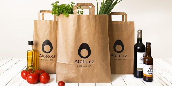 200 Kč na online nákup potravin vč. rozvozu
