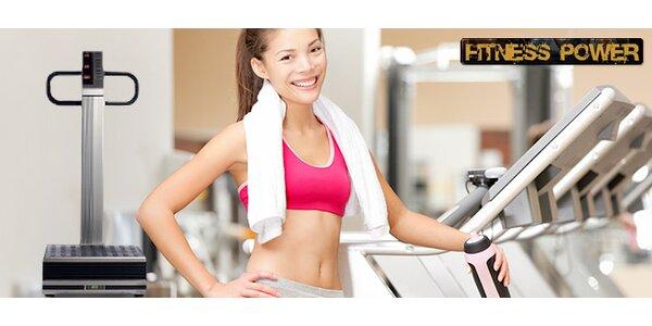 Měsíční permanentka do fitness či na vibrační plošinu