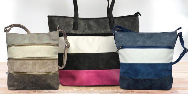 Elegantní pruhované kabelky Tapple