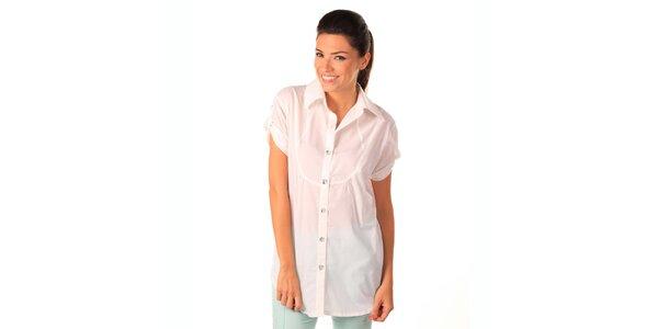 Dámská bílá volná košile Caniche