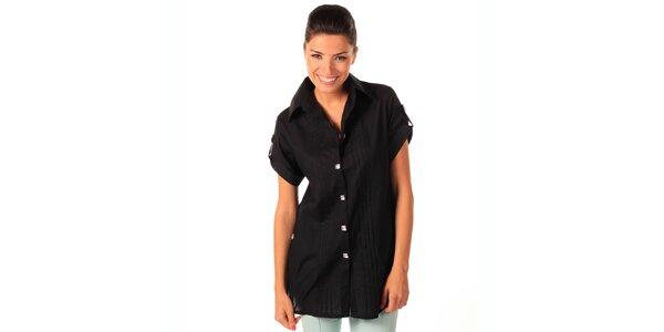 Dámská černá volná košile Caniche