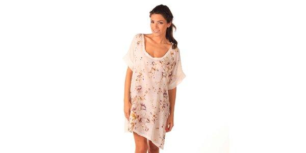 Dámské bílé vzdušné šaty Caniche
