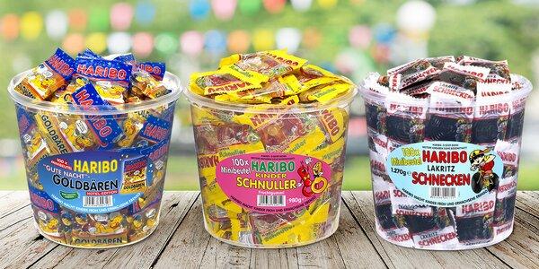 Box plný oblíbených bonbonů Haribo