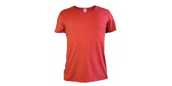 Pánské červené melírované tričko Mosmann