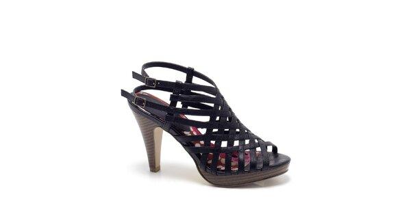 Dámské černé páskové sandály s podpatkem Madden Girl