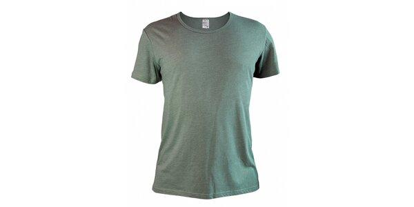 Pánské zelenohnědé melírované tričko Mosmann