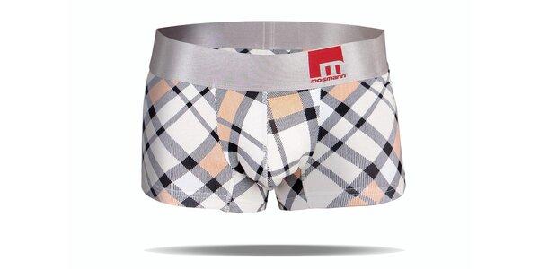 Šedé kostkované boxerky Mosmann M-Series