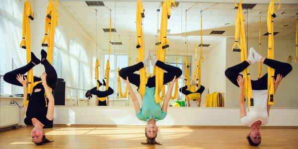 V pohybu: 3x létající jóga či lekce SM cvičení