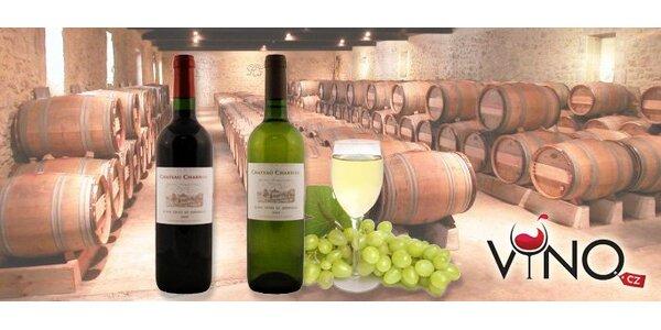 259 Kč za DVĚ francouzská vína Ch. Charron blanc 2009 a Ch. Charron rouge 2009