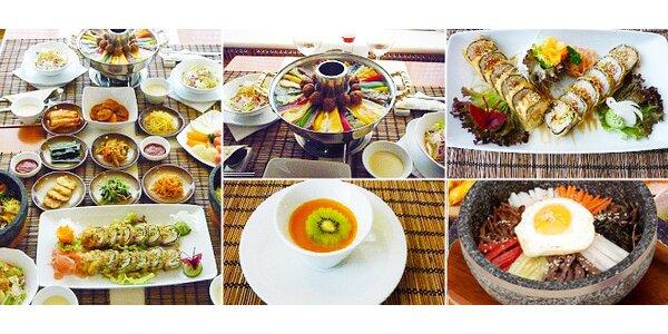 Báječné korejské menu pro 2 osoby v Seoul Garden