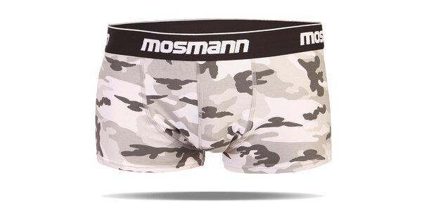 Světlé army boxerky Mosmann Essential