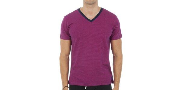 Pánské fuchsiové tričko Ralph Lauren