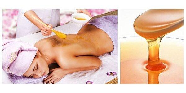 Medová masáž s masáží nohou v délce 90 minut
