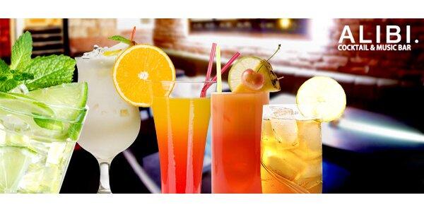 3 koktejly v novém baru Alibi