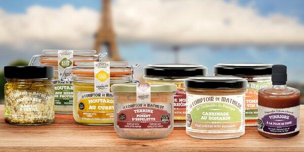 Delikatesy z Francie: pomazánky, hořčice i ocet