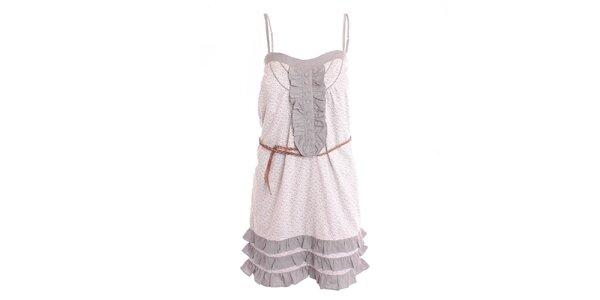 Dámské šedo-bílé šaty s fiží 2two