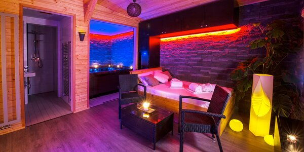 120 minut romantiky: privátní sauna s vířivkou