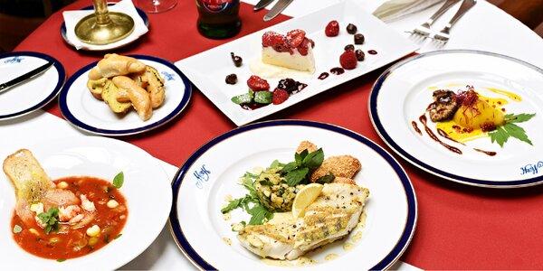 Parádní 4chodové menu pro dva U Modré kachničky