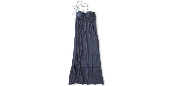 Dámské tmavě modré dlouhé šaty za krk Brunotti