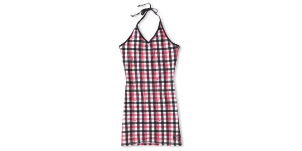 Dámské černo-růžové šaty s kostkovaným vzorem Brunotti