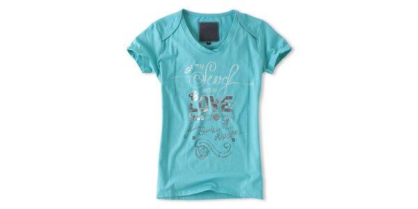 Dámské tyrkysové tričko s krátkými rukávy Brunotti